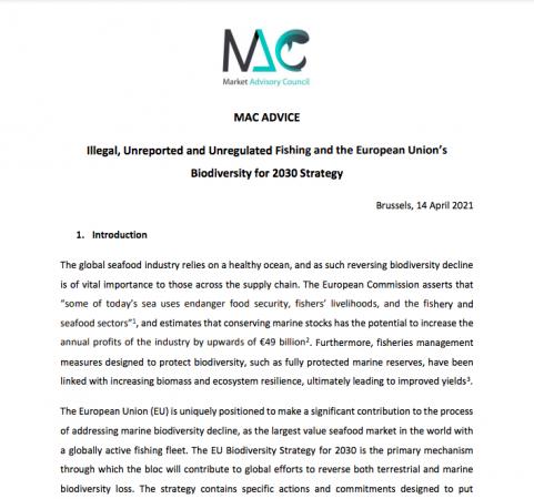 MAC Advice - Biodiversity Strategy, forside